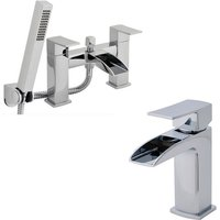 Ultra Moat Mono Basin Mixer Tap and Bath Shower Mixer Tap