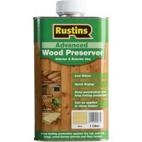 Rustins Advanced Wood Preserver Clear 1 litre
