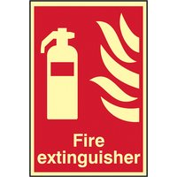 Scan Fire Extinguisher Photoluminescent - 200 x 300mm