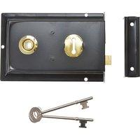 Yale Locks P334 Rim Lock Black Finish 156 x 104mm Visi