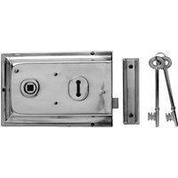 Yale Locks P334 Rim Lock Chrome Finish 156 x 104mm Visi