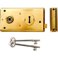 Yale Locks P401 Rim Lock Polished Brass Finish 138 x 76mm Visi
