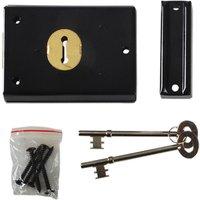 Yale Locks P402 Rim Lock Grey Finish 102 x 76mm Visi