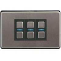 LightwaveRF 3 Gang Smart Dimmer - Stainless Steel