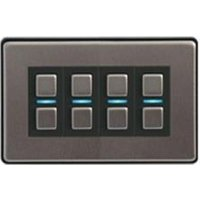 LightwaveRF 4 Gang Smart Dimmer - Stainless Steel