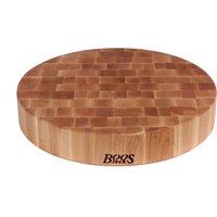 Boos Blocks Prep Blocks runder Hackblock 46 cm aus Ahorn Stirnholz
