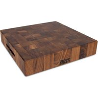 Boos Blocks Black Walnut Hackblock 38x38x7,5 cm aus Walnuss Stirnholz