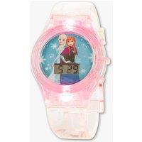 Voor moderne prinsessen: dit kristalheldere horloge licht op door een druk op de knop   digitale tijdweergave ...
