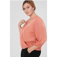 C&A Bluse, Orange, Größe: 60/62