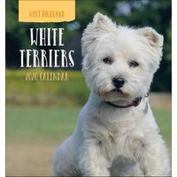 West Highland White Terriers Easel Calendar 2020 - Dogs Gifts