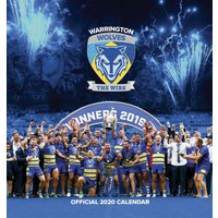 Warrington Wolves Easel Calendar 2020 - Rugby Gifts