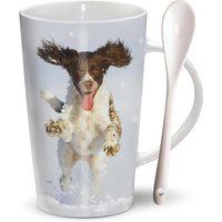 Dashing Springer Spaniel Hot Chocolate Latte Mug - Calendar Club Gifts