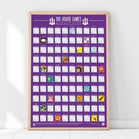 100 Board Games Scratch Poster - Games Gifts