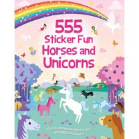 555 Sticker Fun, Horses and Unicorns Activity Book - Activity Gifts