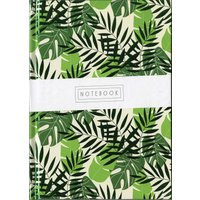 Tropical Leaves A5 Notebook - Calendar Club Gifts