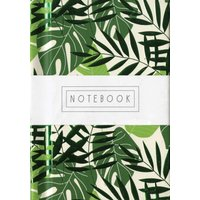 Tropical Leaves A7 Notebook - Calendar Club Gifts