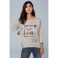 Doubleface Sweatshirt mit Frontprint Farbe : light grey