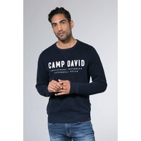 Sweatshirt mit Logo-Stickerei Farbe : space navy