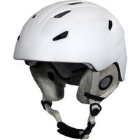 Manbi Park Adults Snow Sports Helmet - White Matt / 59-60cm / L