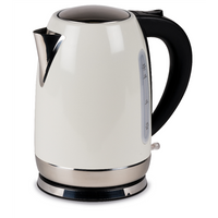 Kampa Stainless Steel Cream Electric Kettle - 1.7L