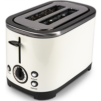 Kampa Stainless Steel Cream Electric Toaster - 2 Slice