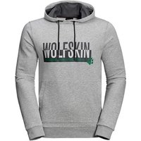 Jack Wolfskin Slogan Hoody - Light Grey