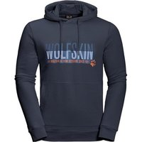 Jack Wolfskin Slogan Hoody - Night Blue