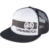 Urban Beach Black Trucker Flat Peak Cap