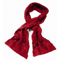 Serious Emily Fine Knit Scarf - RED