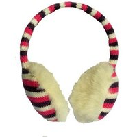 Serious Angelica Ear Muffs - Carmine/winter White/damson