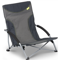 Kampa Sandy High Back Low Chair - Charcoal