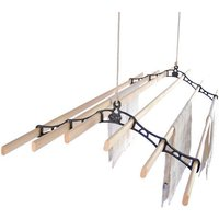 Six Lath Victorian Kitchen Maidandreg; Pulley Clothes Airer
