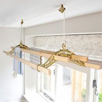 Brass Classic Kitchen Maidandreg; Pulley Clothes Airer