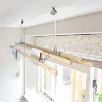 Chrome Victorian Kitchen Maidandreg; Pulley Clothes Airer