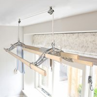 Chrome Classic Kitchen Maidandreg; Pulley Clothes Airer