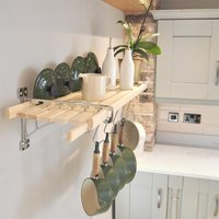 Chrome 8 Lath Kitchen Shelf Rack