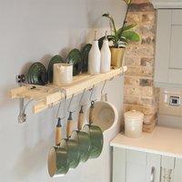 Chrome 6 Lath Kitchen Shelf Rack
