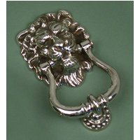 Majestic Nickel Lions Head Door Knocker