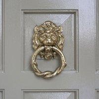 Kirkpatrick 4896 Brass Lion And Rope Door Knocker