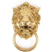 Regency Lions Head Door Knocker - Polished Brass