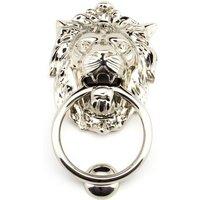 Regency Lions Head Door Knocker - Polished Nickel