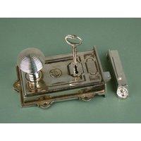 Davenport Nickel Rim Lock Set