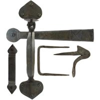 Blacksmith Beeswax Gothic Thumb Latch with Extra Long Thumb Bar