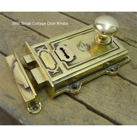 Davenport Brass Rim Lock Set