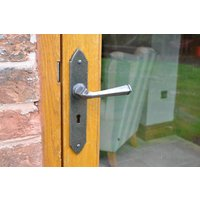 Kirkpatrick A6053 Lever Door Handle - Argent Finish - Unsprung