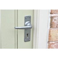 Kirkpatrick 2456 Plain Lever Door Handle - Pewter Finish
