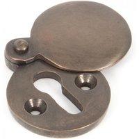 Aged Bronze Round Escutcheon