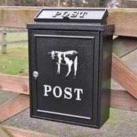 Cow Wall Mounted Post Box