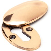 Polished Bronze Oval Escutcheon and Cover