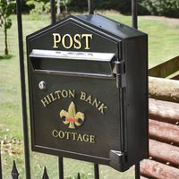 Newport Slimline Gate Mounted Post Box - Made to your own design